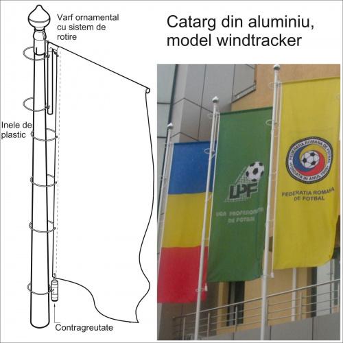 Catarg sectional din aluminiu - WINDTRACKER