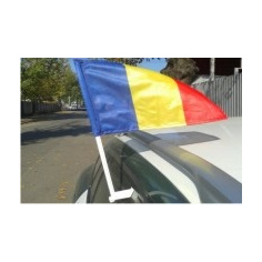 Set Stegulete Imprimate Auto Romania + suport auto