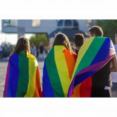 Steag LGBT orizontal personalizat