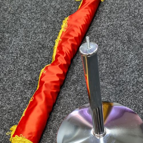drapel romania montat pe lance