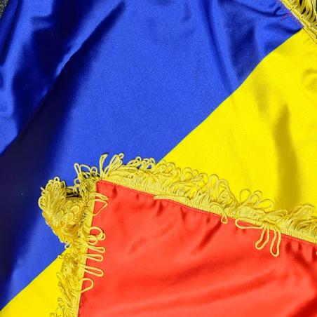 drapel romania imprimat material satin