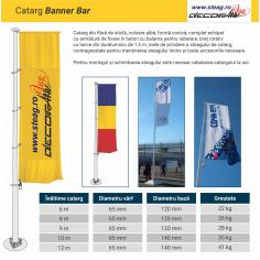 Catarg fibra de sticla  model rotoarm sau banner bar
