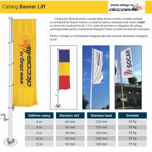 Catarg fibra de sticla  model windtracker sau banner lift