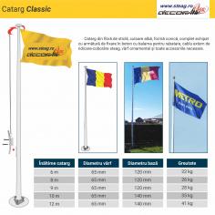 Catarg fibra de sticla  model standard sau clasic