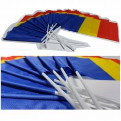 set 50 drapele Romania de exterior la 20x30 cm cu betisor inclus